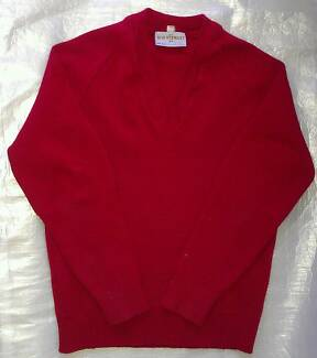 Size 12 UNIFORM Mac.Robertson Girls High School Red Jumper RRP$70 South Melbourne Port Phillip Preview