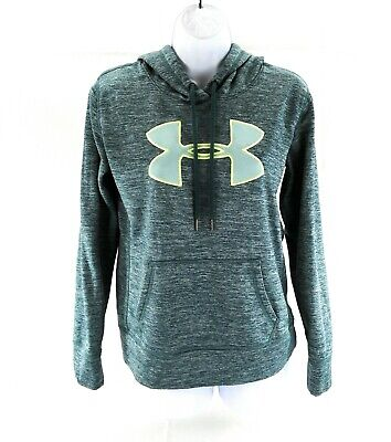 Under Armour Women's Pullover Hoodie Sweatshirt Size Small Medium Blue Green