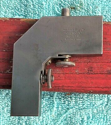 Lufkin 18b Combination Square Steel Rule Right Angle Attachment Machinist Tool