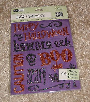 K&Company Glitter Stickers (Double Sided) ~ Kelly Panacci.....Halloween - K Halloween Words