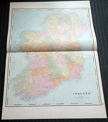 Crams Railway System Atlas Map Ireland France Spain & Portugal 1895