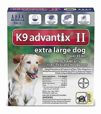 K9 Advantix Ii Over 55 Lb     Extra Large Dog   4 Pack
