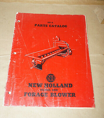 New Holland Model 680 Forage Blower 68-a Parts Catalog Manual 1944-680-5m-3-51w