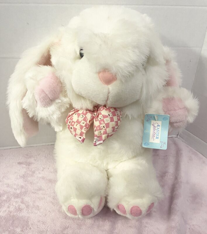 "Vintage 12"" Easter Plush Bunny Rabbit"