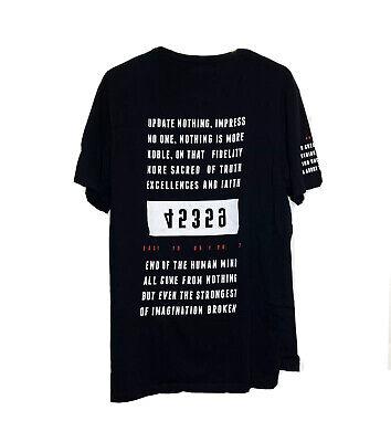 Zara Man T-shirt Black And White Letters Size L Large