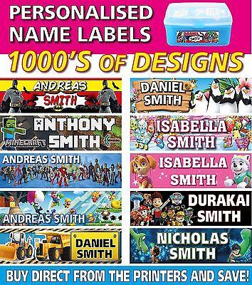 Personalised Kids Vinyl Name Labels - Drink Bottles Lunchbox School 45 labels - Drink Labels