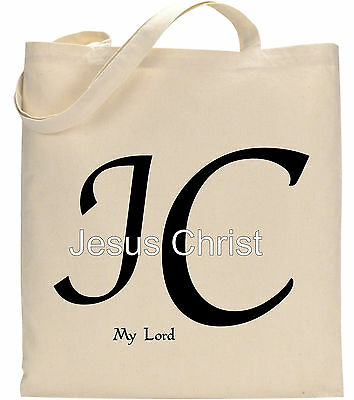 Christian Religious Tote Bag - Jesus Christ My Lord JC Religious Church Evangelism Christian TOte Bag