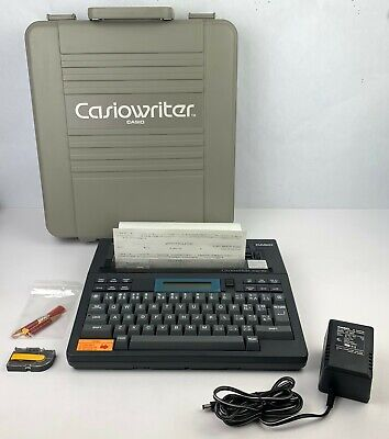 Casiowriter Cw-10 Portable Electric Battery Powered Typewriter Word Processor