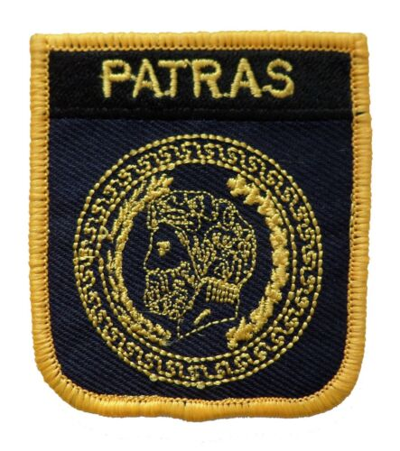 Patras Greece Shield Embroidered Patch