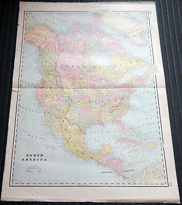 Crams Railway System Atlas Map North America Nashville Birmingham 1895