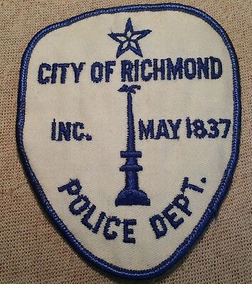 TX Vintage City of Richmond Texas Police Patch