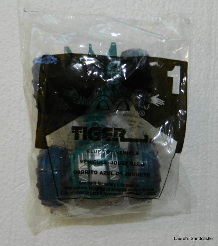 Blue Toy Vehicle #1 Tiger 2000 McDonald's ~ NEW & Sealed!