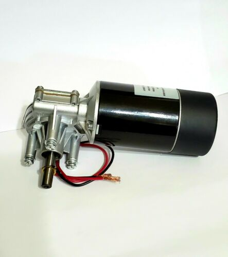 New High Torque 24V DC 4A Right Angle Reversible Gear Motor 150 RPM W/ Encoder