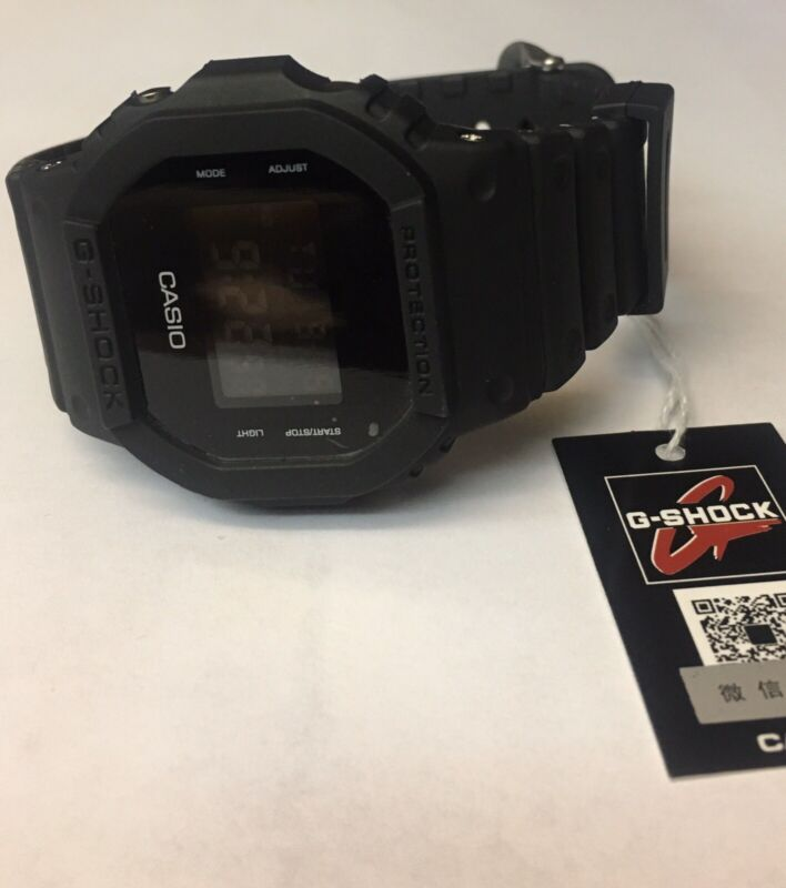 Casio G-shock Watch DW5600BB-1 Matte Black Used Once