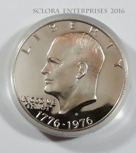 1976 S EISENHOWER *PROOF* DOLLAR COIN  *40% SILVER IN CAPSULE* **FREE SHIPPING**