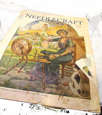 NEEDLECRAFT MAGAZINE October 1929 ISSUE Reginald P. Ward Cover Crafts!