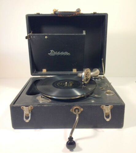 Decca portable gramophone