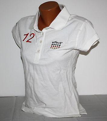 Effect Energy Polo Shirt in weiß Damen mit Logo Größe XS T-Shirt Shirt Neu