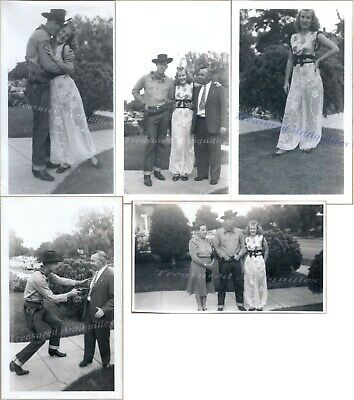 1930s Couple Wearing Halloween Cowboy Outlaw Genie Harem Girl Costumes Photos - 1930s Halloween Costumes