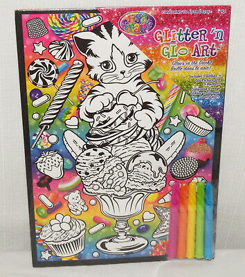 Glo Kitty (New Lisa Frank Glitter 'n Glo Art Kitty Cat )