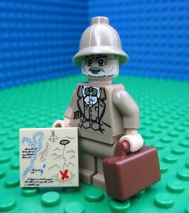 Lego Indiana Jones Minifig Minifigure Henry Sr Map City