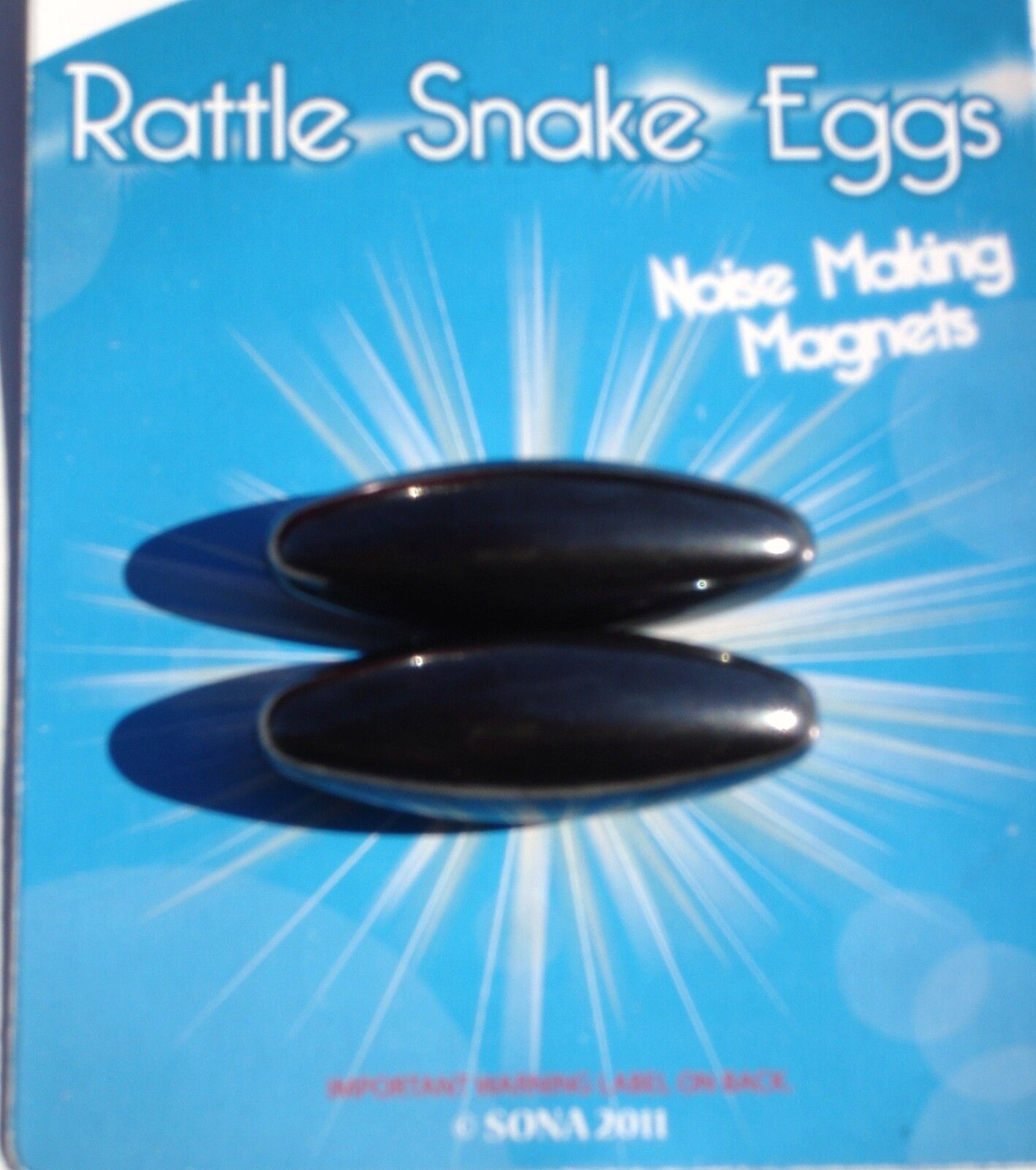 Rattlesnake Eggs ( Lot Of 12 Cards ) Noise Making Magnets Carnivals, Party Toys,