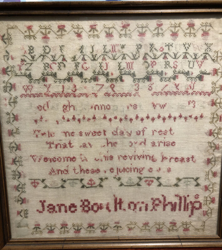 Antique Sampler, Jane Bouton Phillip