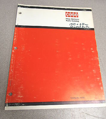 Case Moldboard Plow Bottoms Parts Catalog Manual A1146 1971