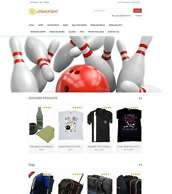 Bowling Sport Store - Amazon Affiliate Ecommerce Website Free Hosting