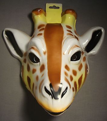 GIRAFFE SAFARI ANIMAL HALLOWEEN MASK PVC PLASTIC ZOO ANIMAL