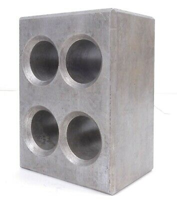 Cast Aluminum Precision Machinist Set Up 4 Holes 2 Square Block 6 X 4.1 X 8