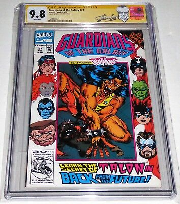 Guardians of the Galaxy #27 CGC SS 9.8 Signature Autograph STAN LEE Inhumans App