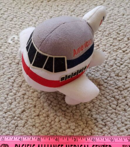 American Airlines Airplane Jet Plush Soft Toy Stuffed Animal