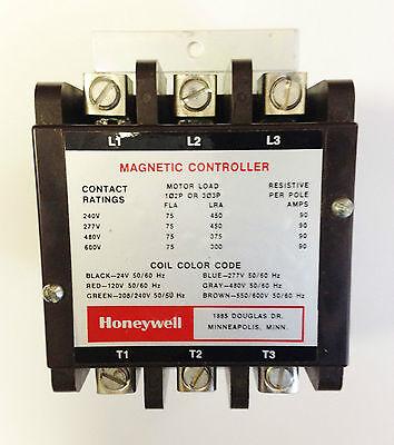 Honeywell R4236B, Contactor, 75 AMP
