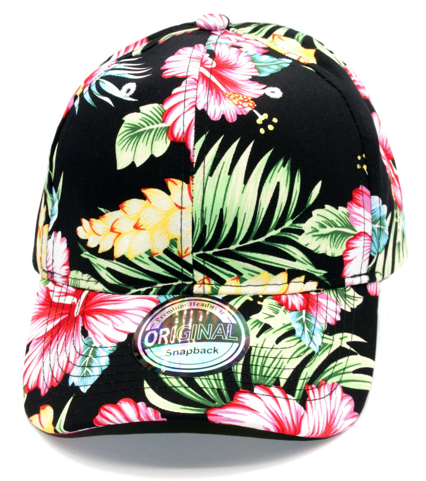 Cappy Klettverschluss Hawaii gebogen ohne Logo Kappe Cap Basecap Unisex Mütze