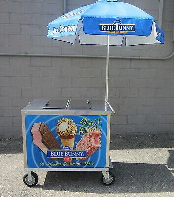 Nelson Bdc-8 Dry Ice Frozen Novelty Ice Cream Vending Push Cart