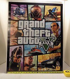 grand theft auto poster ebay. Black Bedroom Furniture Sets. Home Design Ideas
