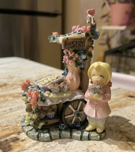 """Ivy & Innocence """"The Pastry Cart"""" 1998 Membership Figurine New W/Out Box"""