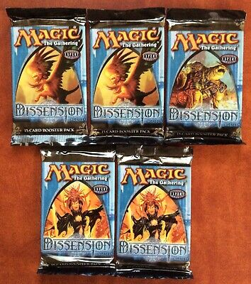 DISSENSION Lot of 5 Sealed Magic the Gathering Booster Packs (ENGLISH)