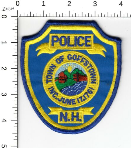 GOFFSTOWN NEW HAMPSHIRE POLICE SHOULDER PATCH NH