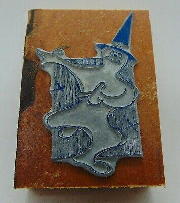 Printing Letterpress Printers Block Halloween Ghost