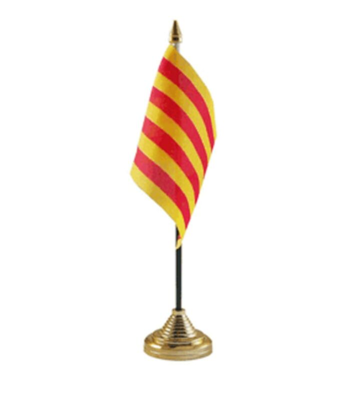 "CATALONIA DESKTOP TABLE FLAG 6""X4"" 15cm x 10cm flags CATALAN SPAIN SPANISH"