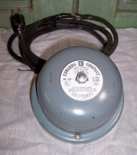 Vtg Edwards Company Adaptabel No.340 School Bell Mount Vibrating Alarm Tested