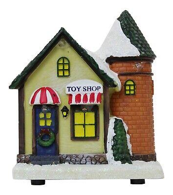 Iluminada Navidad Adorno - Miniatura Tienda de Juguetes Mini Fiesta Escena