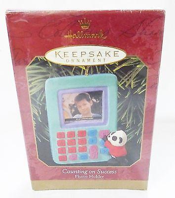 Hallmark keepsake christmas ornament counting on success photo holder