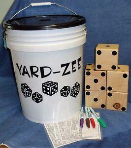 **NEW** Giant Lawn Dice Game Set - YARD-ZEE - yahtzee/yardzee for the yard!