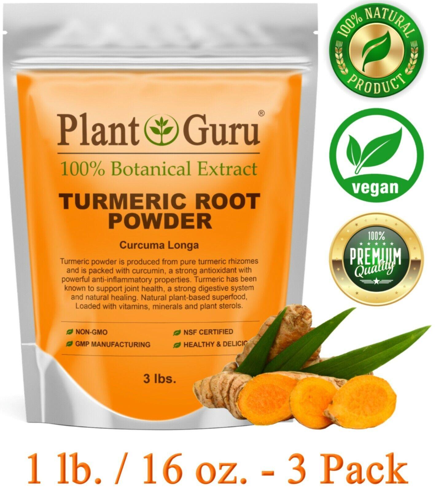 Turmeric Root Powder 1 lb. 100% Pure Organic Curcuma Longa T