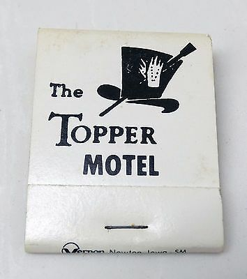 RARE OLD THE TOPPER MOTEL BOZEMAN MONTANA MT MATCHBOOK - 1235 NORTH 7TH - SCARCE
