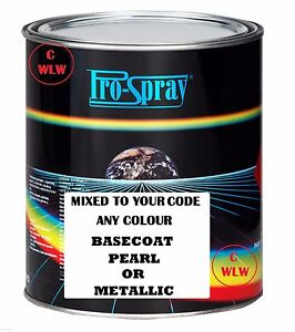2 PACK 2K Car Body Paint BASECOAT COLOUR MIXED TO CODE Metallic pearl Spraying