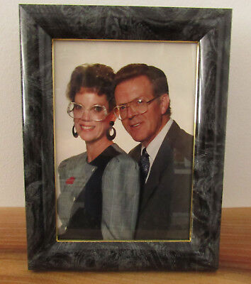 Vintage 1980s Funny Framed Portrait Found Photograph Married Couple 5x7